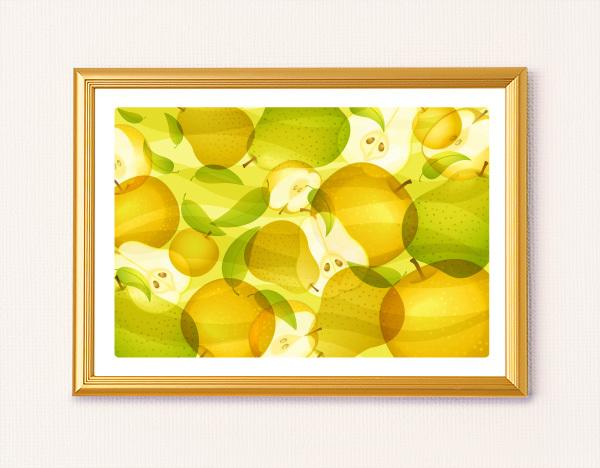 風水果実アート和梨&ラフランス イメージ