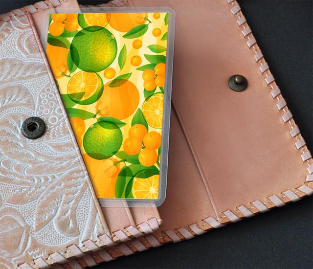 風水果実カードW8収納イメージ