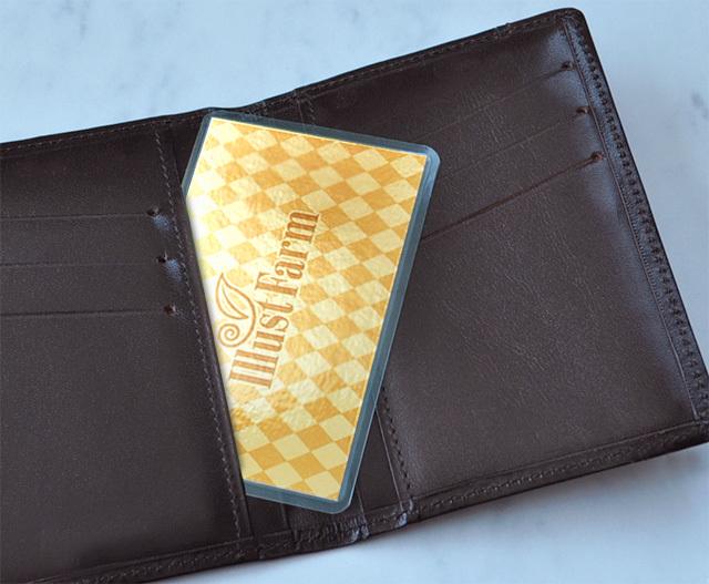 風水果実アートカードの金の気イメージ