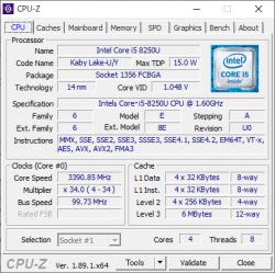 Core i5-8250U_CPU-Z_01