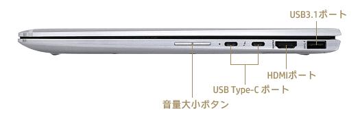 HP-EliteBook-x360-1040-G5_右側面_インターフェース_01a