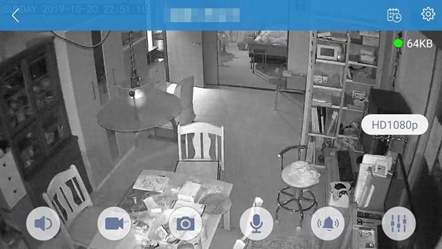 キッチン夜間赤外線暗視カメラweb