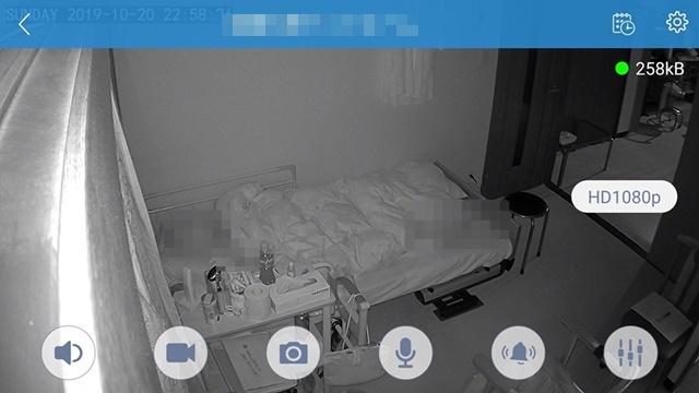 夜間暗視カメラベッドルームweb