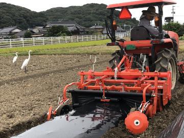 農園苗植え雨ギリギリ9