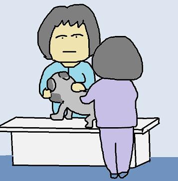 動物病院へ