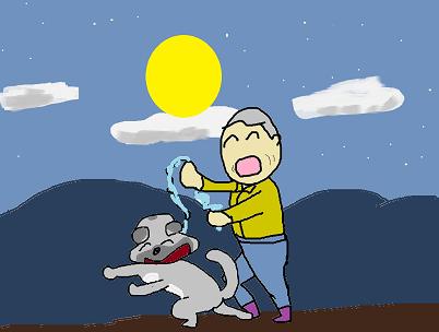 中秋の名月を散歩する