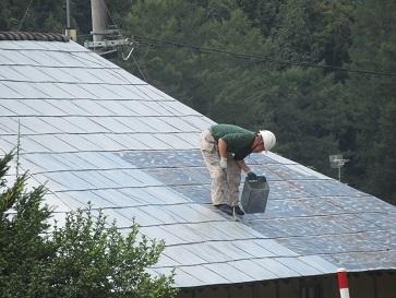 屋根の塗装 2