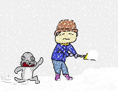 もっさもっさと降る雪