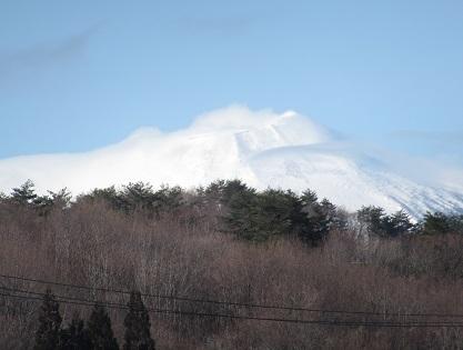 今朝の岩手山