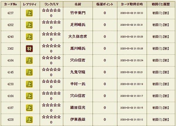 戦くじ10影