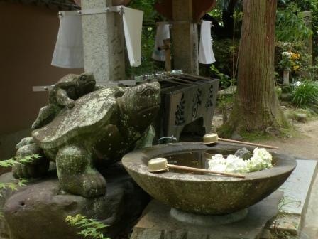 浄瑠璃寺 手水鉢
