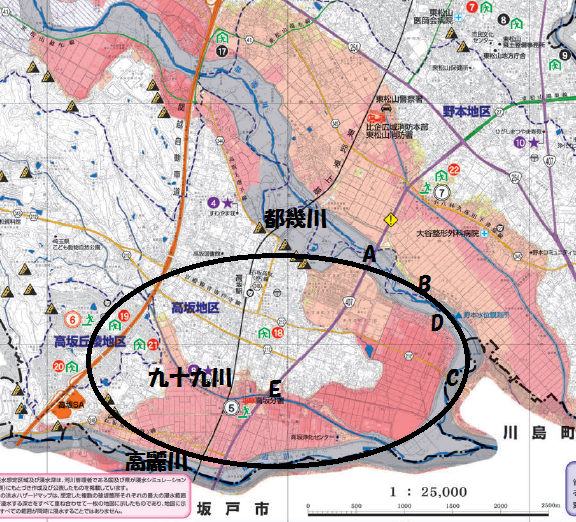 ハザード マップ 東松山 県内市町村地震ハザードマップ