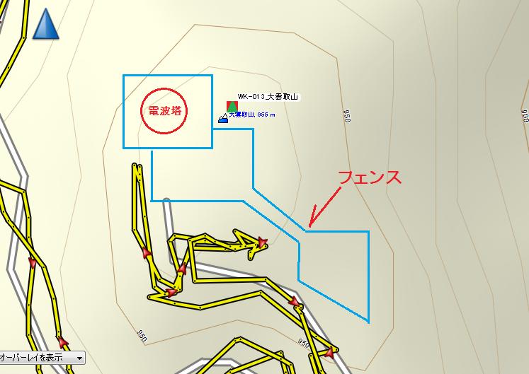 2019大雲取山/山頂図