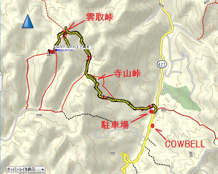 2019雲取山/地図1