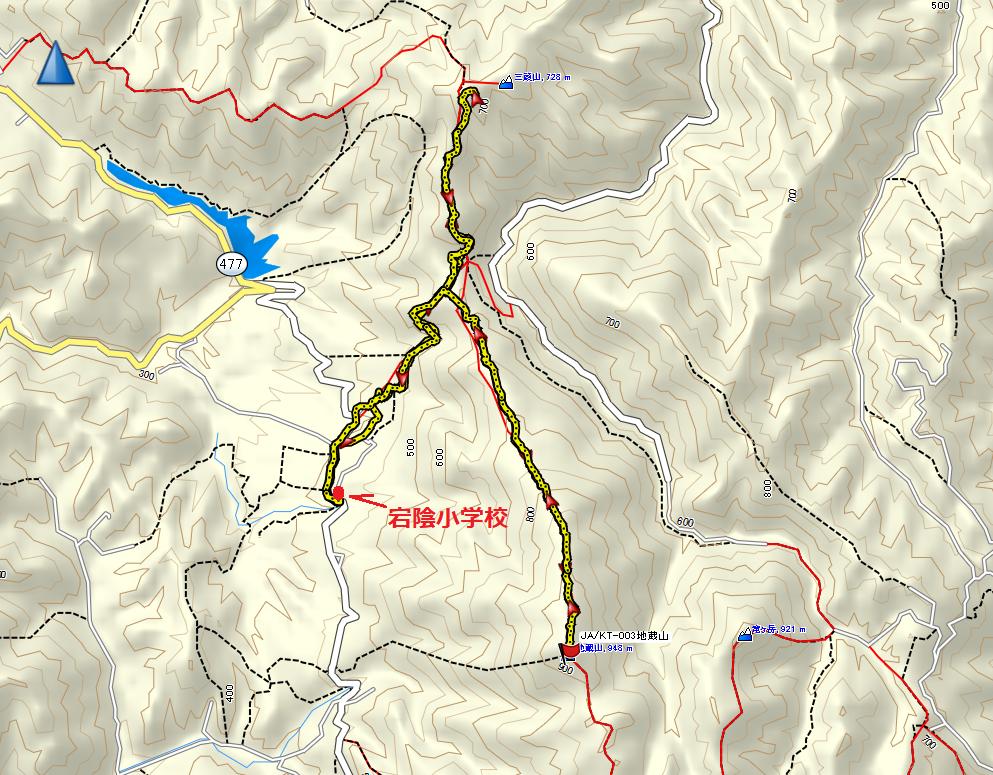 2020三頭山地蔵山/地図