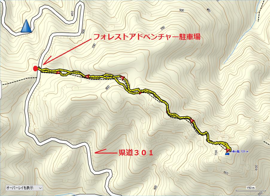 2010小金ヶ嶽/地図