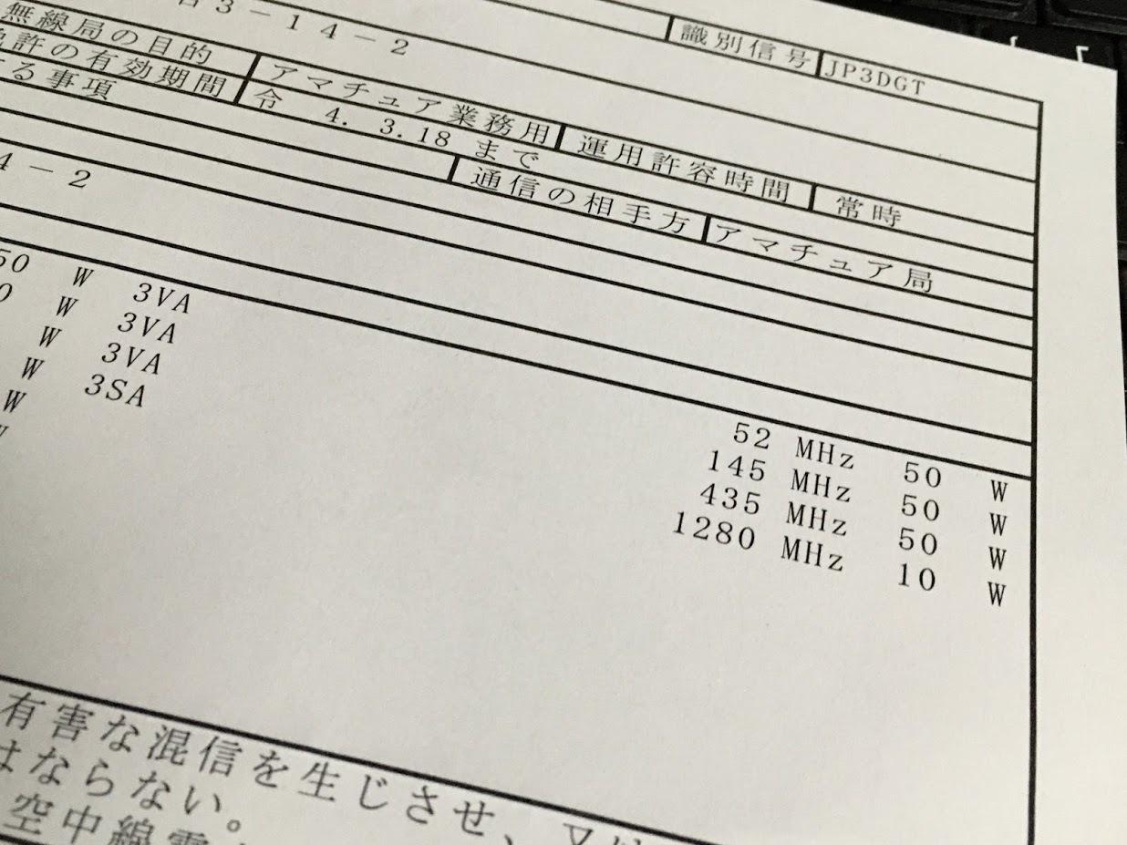 UTV1200B2/免許状
