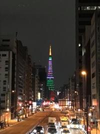 東京マラソン2020前日ライトアップ