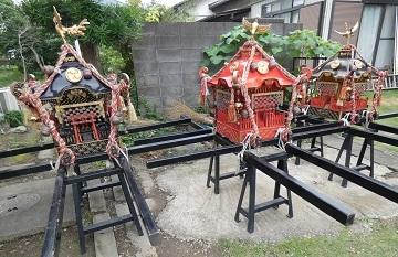 1-4 三ツ木神社 神輿三基