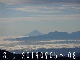 2-4富士山と南アルプス 甲斐駒ケ岳 北岳