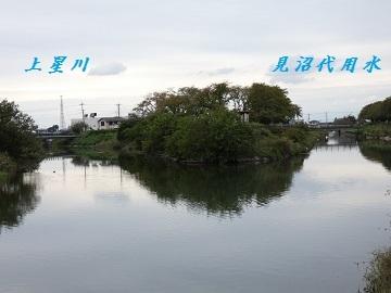 3-1見沼代用水水路と星川の合流1