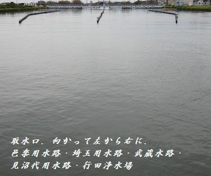 5-1利根大堰5つの用水路口