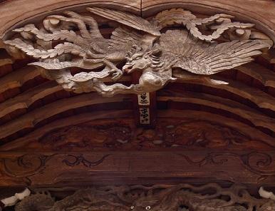 20-2大野神社 鳳凰の彫り物