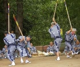 10-3原馬室の獅子舞棒術その2