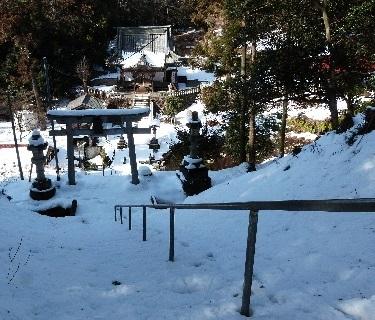 雪の木曽神社