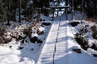 木曽神社 石段