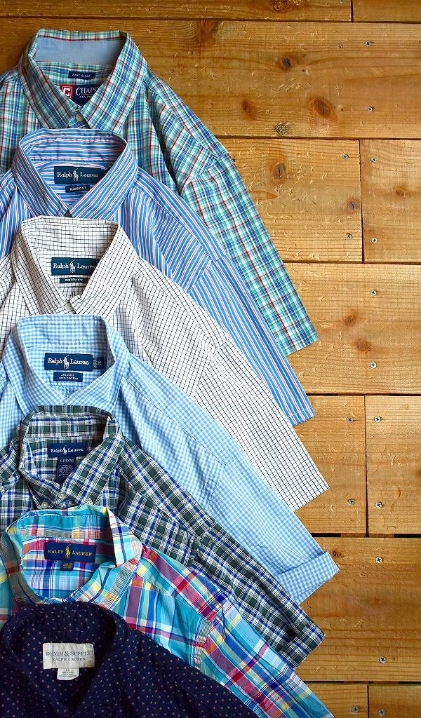 POLO Ralph Laurenラルフローレン関連ブランド半袖チェックシャツ画像@古着屋カチカチ