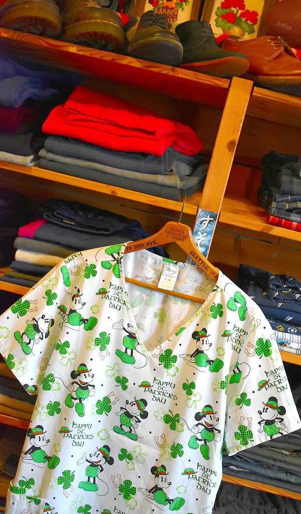 半袖スクラブシャツ画像プールオーバーシャツUSEDメンズレディースコーデ@古着屋カチカチ