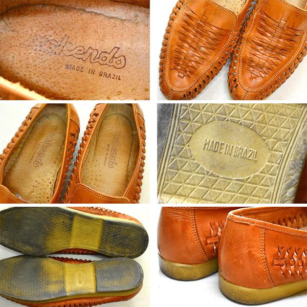 レザーサンダル革靴スポーツサンダル靴デッキシューズ@古着屋カチカチ