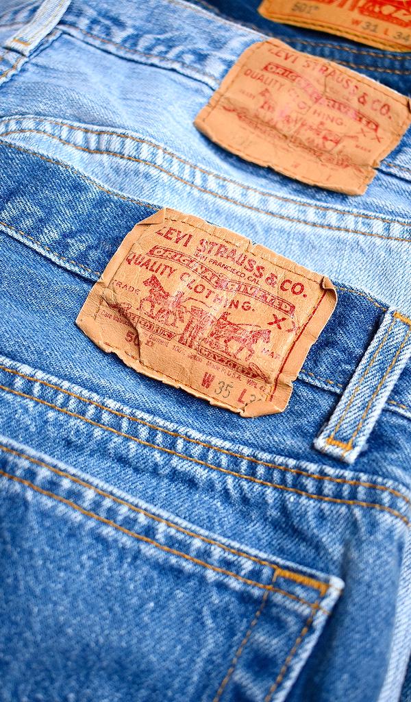 リーバイスLevisジーンズ501デニムパンツ画像メンズレディースアメカジコーデ@古着屋カチカチ