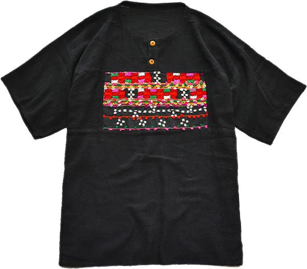 ボーリングシャツ半袖ワークシャツUSEDリゾートシャツ半袖エスニックスタイルコーデ@古着屋カチカチ