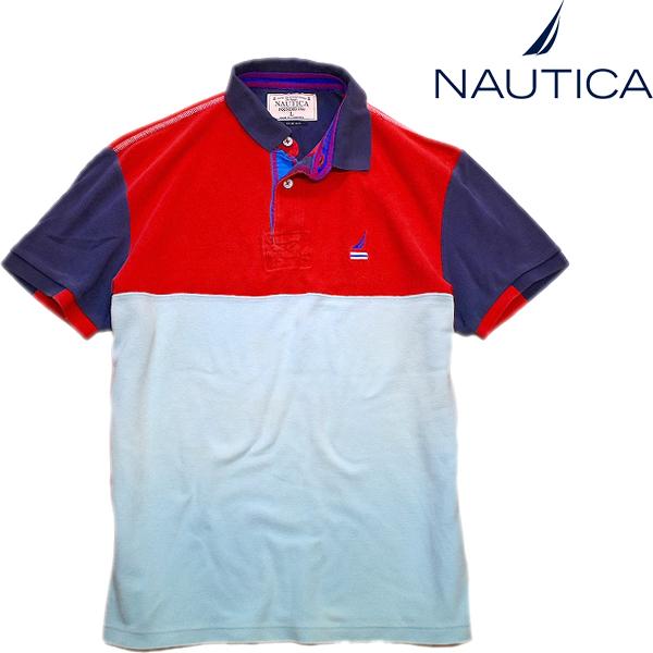ノーティカNautica半袖ポロシャツTシャツコーデ90sストリートスタイル古着屋カチカチ