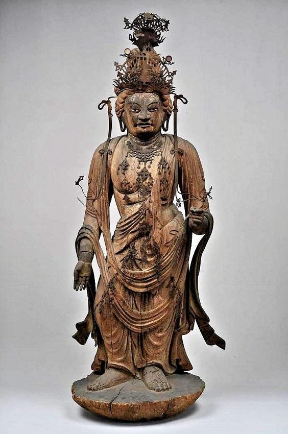 京都 勝光寺・聖観音像(平安前期・京都市指定文化財)