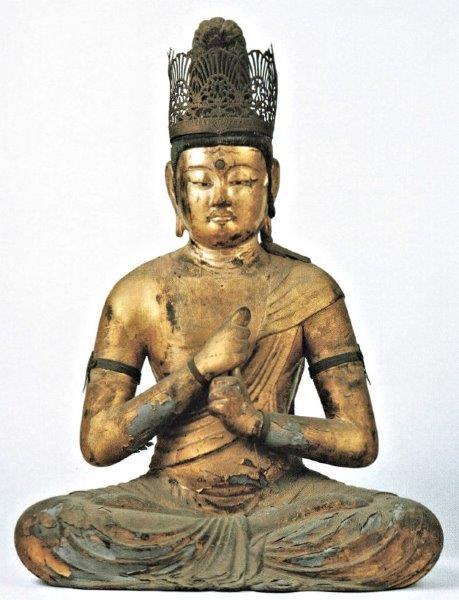 修理修復前の浄瑠璃寺・大日如来像の姿