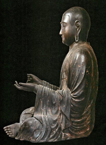 静岡瑞林寺・地蔵菩薩像(側面写真)
