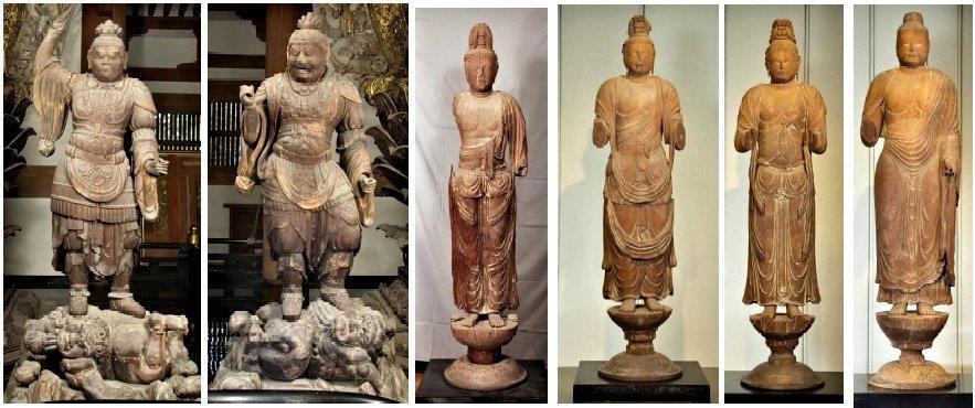 国宝に指定された唐招提寺木彫群6躯