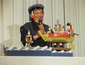 末松会長 からくり船弁慶の熱演