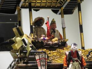 恵比須大黒と宝船、麾振り人形