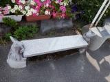 山形鉄道宮内駅 ウサギのベンチ