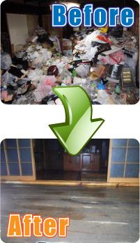 ゴミ屋敷 清掃 愛知県名古屋市