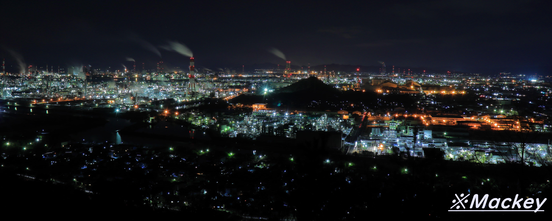 IMG_1103【鷲羽山スカイライン水島工業地帯の夜景】