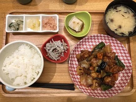 7242019 Dinner 百菜屋 黒酢炒め定食 S