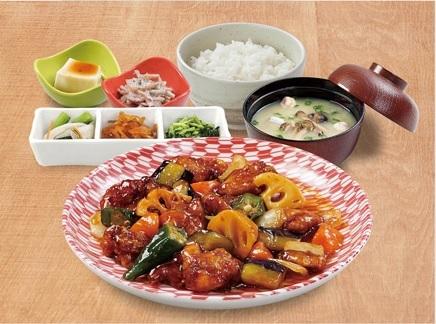 7242019 百菜屋黒酢炒め 夕食メニュー S