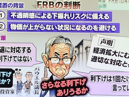 8012019 TV 米FRB 利下げ S1