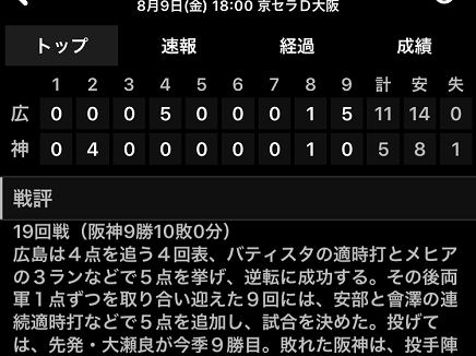 8092019 Carp vs Tigers 11-5V S1