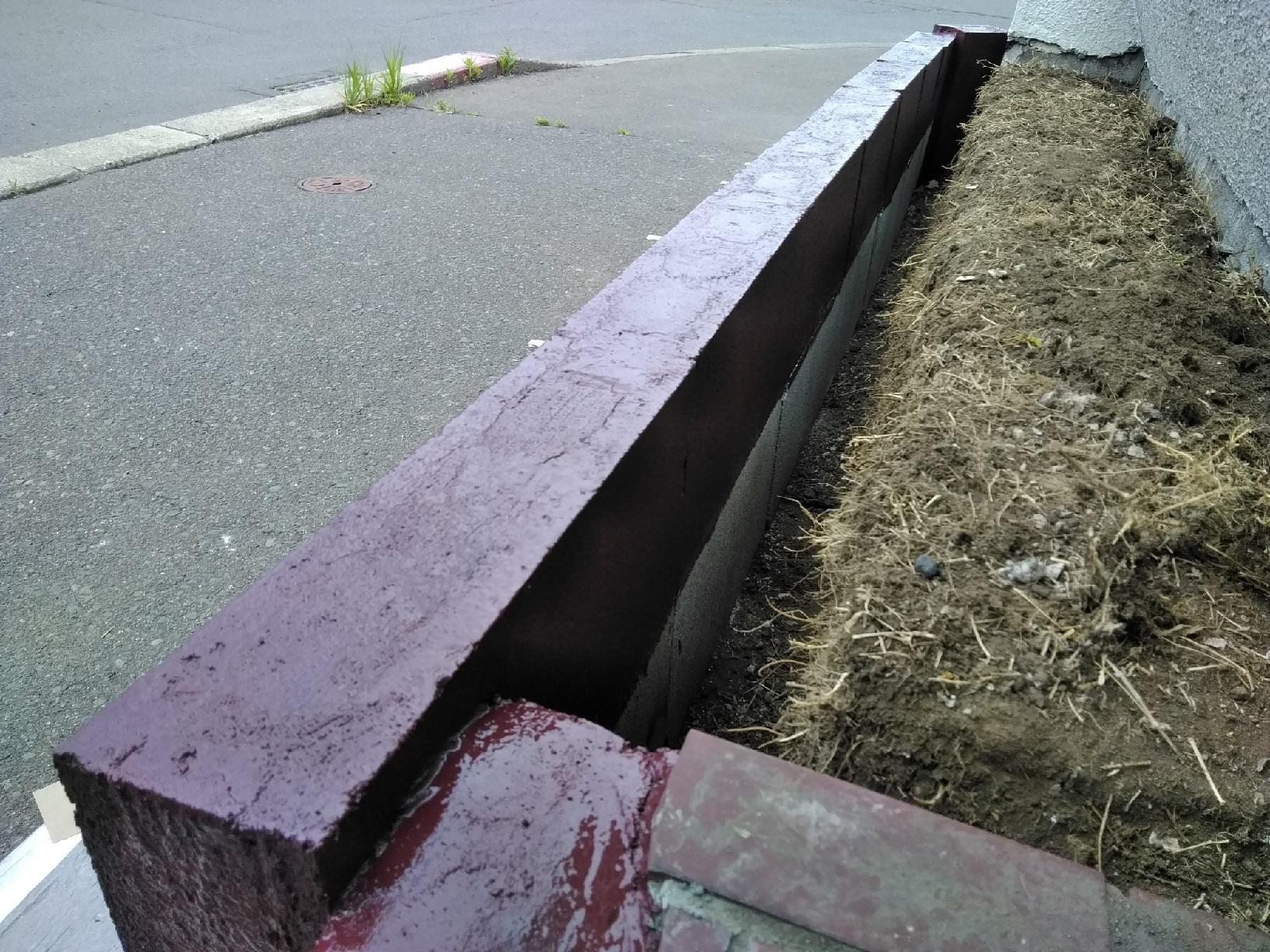 治水町K様邸 花壇 ブロック塗装5